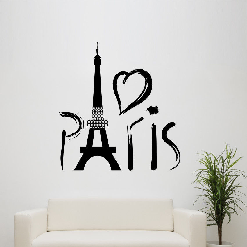 Very Paris Eiffel tower love wall art decal decoration vinyl sticker  ZK44
