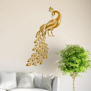 Peacock-Wall-Sticker-Birds-Decal-Art-Livingroom-Vinyl-Mural-Graphics-Hall-Decor-262609598539