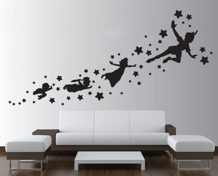 Peter-pan-wall-decal-removable-vinyl-sticker-mural-christmas-kids-children-art-262064980449