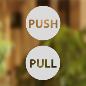 pull push door stickers