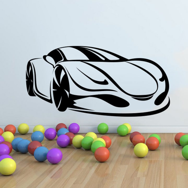 Sport-Super-Car-Vinyl-Wall-Sticker-Decor-Decal-Mural-Kids-Children-room-graphics-263851819399